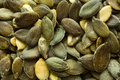 Pumpkin seeds close up shot Royalty Free Stock Images