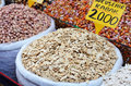 Pumpkin seeds and nuts at spicy bazaar in Turkey Royalty Free Stock Photo