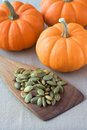 Pumpkin seeds salted Stock Images