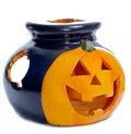 Pumpkin-shaped burner/aromatherapy lamp Royalty Free Stock Photo