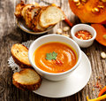 Pumpkin soup, delicious and nutritious Royalty Free Stock Photo