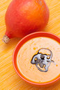 Pumpkin soup with seeds Royalty Free Stock Photos