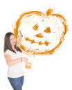 Pumpkin Splatter Royalty Free Stock Photography