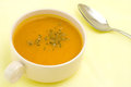 Pumpkin thick soup Stock Photo