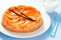 Pumpkin upside down cake selective focus Stock Images