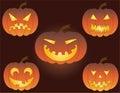 Pumpkin. Vector illustration. Royalty Free Stock Image