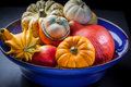 Pumpkins in the bowl Royalty Free Stock Photography