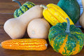 Pumpkins and corn Royalty Free Stock Photo