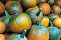Pumpkins on display during Halloween Royalty Free Stock Images