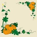 Pumpkins frame Royalty Free Stock Photos