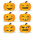 Pumpkins halloween set vector eps Stock Photography