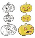 Pumpkins helloween icon Stock Photo