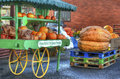 Pumpkins market stall Royalty Free Stock Photo