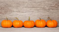 Pumpkins over Wooden Background. Harvest Royalty Free Stock Photo