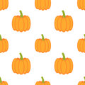 Pumpkins seamless pattern illustration Stock Photo