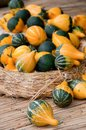 Pumpkins on the straw Royalty Free Stock Images
