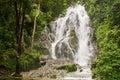 Pun Ya Ban Waterfall at Lamnam Kra Buri National Park in Ranong, Royalty Free Stock Photo