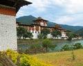 Punakha dzong Стоковое фото RF