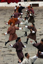 Punakha Tsechu, War Dance Stock Photography