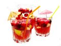 Punch cocktail drink with fruit Royalty Free Stock Photos