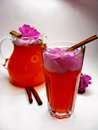 Punch cocktail tea drink with wild rose Royalty Free Stock Image