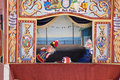 Punch and Judy Performance, Weymouth Stock Photo