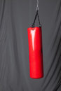 Punching bag in gym Stock Images