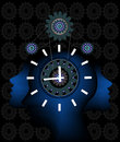 Punctuality all elements are in separate layers color can be changed easily Stock Image