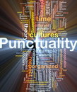 Punctuality background concept glowing Royalty Free Stock Photo