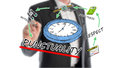 Punctuality concept with businessman in background Stock Images