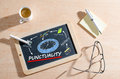 Punctuality concept a on chalkboard Royalty Free Stock Photography