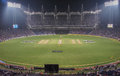 Pune cricket stadium the in during the one day international between india and australia Royalty Free Stock Photos