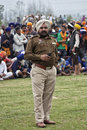 A punjab police man in uniform an active cop at the annual hola mohalla celebration at anandpur sahib india Stock Photos