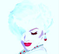 Punk Art,comic Style Blonde Gi...