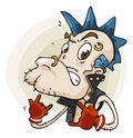 Punk. Cartoon Series Royalty Free Stock Photo