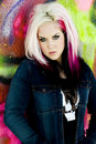 Punk gothic fashion model Royalty Free Stock Photo