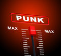 Punk music means track remix and frequency representing sound level Royalty Free Stock Photo