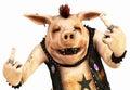 Punk pig toon Royalty Free Stock Photo