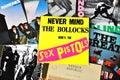 Punk rock music vinyl records Royalty Free Stock Photo