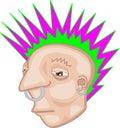 Punk rocker illustration Royalty Free Stock Photo