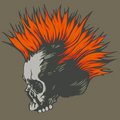 Punk skull Stock Photography