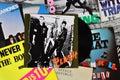 Punk vinyl records Royalty Free Stock Photo