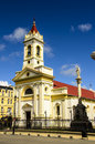 Punta arenas church in chile downtown Royalty Free Stock Image