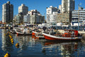 Punta del este uruguay fishing boats Royalty Free Stock Image