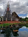 Puntao temple in chiang mai thailand Stock Photo