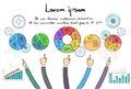 Punto de infographics logo business people hand draw Imagen de archivo libre de regalías