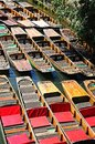 Punts moored on the river, Oxford. Royalty Free Stock Photo