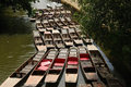 Punts on the Oxford canal Royalty Free Stock Photo