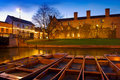 Punts in the River Cam - Cambridge, England Stock Photo