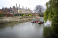 Punts in the River Cam - Cambridge, England Royalty Free Stock Photo
